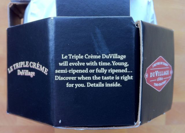 DuVillage Le Triple Cream Cheese side of the box